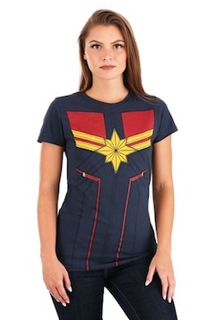 Adult Captain Marvel Costume T-shirt