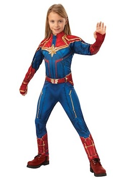 Marvel Avengers Endgame Costume Ideas for Kids - Captain Marvel