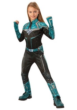 Kids Captain Marvel Costume Kree Suit