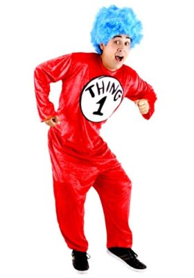 Dr Seuss Costume for Adults - Thing 1 Thing 2