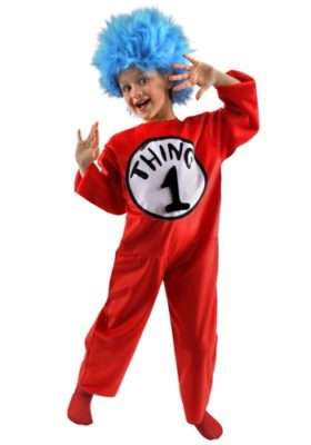 Dr Seuss Costume for Kids - Thing 1 Thing 2