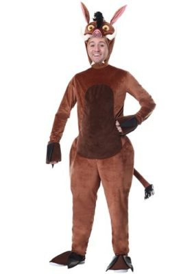 Adlut warthog costume for adults